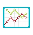 Business finance graphic statistics icon vector image