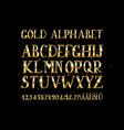 Golden English alphabet vector image