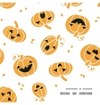 Smiling Halloween pumpkins frame corner pattern vector image