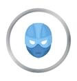 Superhero s helmet icon in cartoon style isolated vector image