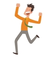 Happy jumping businessman vector image