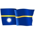 flag of Nauru vector image vector image