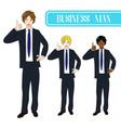 business man thumb up vector image