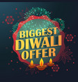 biggest diwali sale offer with beautiful vector image