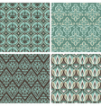 set with vintage seamless patterns vector image vector image