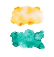 Green blue colorful abstract hand draw watercolour vector image vector image