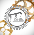 Oil Pump design vector image