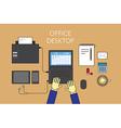 Office desktop vector image