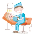 The girl on reception at the dentist vector image