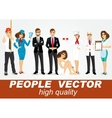 set of diverse people characters vector image