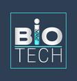 biotechnology logotype logo icon design vector image