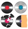 black vinyl records vector image