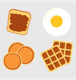 breakfast menu items vector image