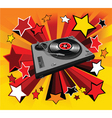 disco player star vector image