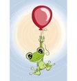 Frog with balloon vector image