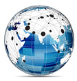 Globe Internet network vector image