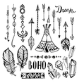 Hand drawn ethnic collection set with vector image
