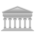 Ionic Greek temple vector image