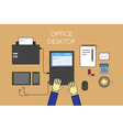 Office desktop vector image