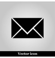 postal envelope sign on grey background vector image