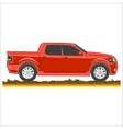 red pickup suv car off-road 4x4 icon colored vector image