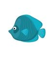 Sea fish animal vector image