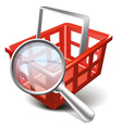 Search cart vector image