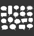 speech bubbles icons vector image