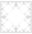 square sacral geometry fractal background vector image