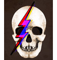 tee graphic of skull david bowie vector image