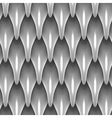 White dragon scales seamless background texture vector image