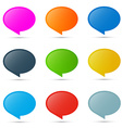 Colorful Oval Labels Set Isolated on White vector image