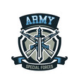 logo emblem military weapons machine guns vector image