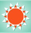 summer sun icon vector image