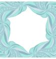 Light blue hexagonal frame vector image vector image
