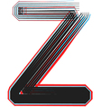 abstract font letter Z vector image vector image