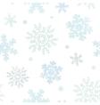 Blue Christmas Snowflakes Textile Texture Seamless vector image