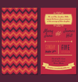 Vintage Invitation card with background zigzag vector image vector image