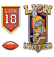 American Football Lion Gladiator Mascot vector image