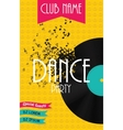 Vertical Dance Party Flyer Background with Place vector image