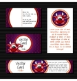 Four cards with little devil vector image