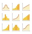 Charts Diagrams and Graphs Flat Icons Set vector image vector image