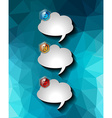 Bubble Speech Infographic Layout Template for data vector image vector image