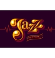 Jazz festival flyer vector image