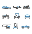 Transport Icons - A set of four vector image vector image