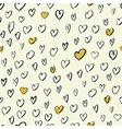 Seamless Hand Drawn Hearts Pattern vector image