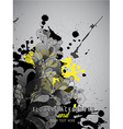 Abstract splash background with flower pattern and vector image