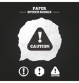 Attention caution signs Hazard warning icons vector image