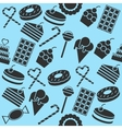 Cafe and Confectionery collage vector image