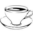 cup of coffee sketch vector image